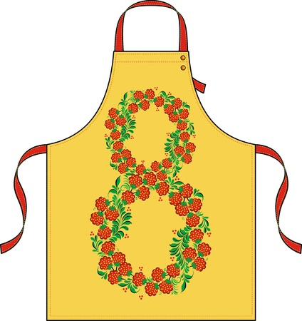 Apron with drawing in the form of a flower ornament Stock Vector - 12808987