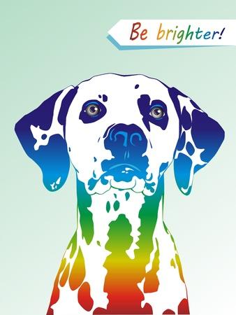 Dog a dalmatian with multi-colored spots Stock Vector - 13168497