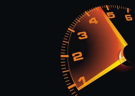 emitting: Digital speedometer with being shone arrow