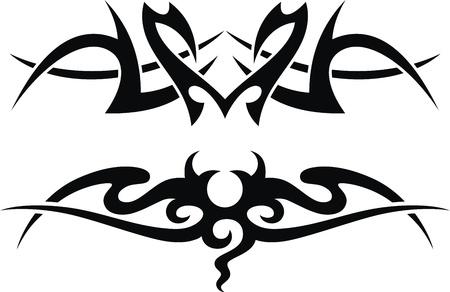 Die stilisierte Muster in Form einer Tätowierung