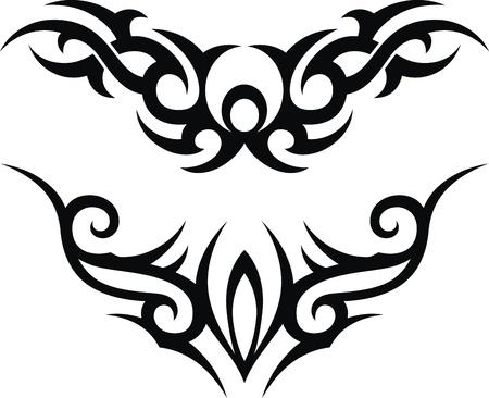 El patrón estilizado en forma de un tatuaje