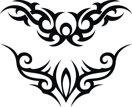 The stylized pattern in the form of a tattoo Stock Vector - 13168532