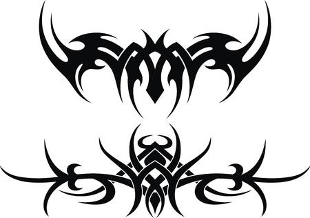 Die stilisierte Muster in Form einer Tätowierung Vektorgrafik