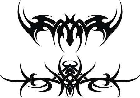 The stylized pattern in the form of a tattoo Vector