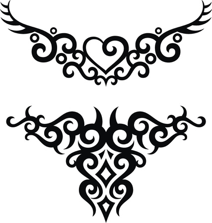 The stylized pattern in the form of a tattoo Stock Vector - 13168530