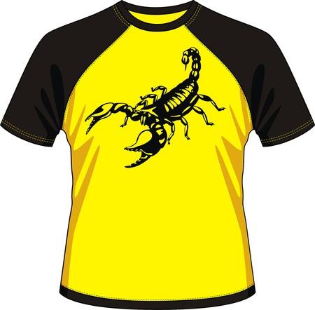 scorpion: T-shirt avec le dessin sous la forme d'un scorpion
