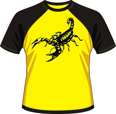 T-shirt with drawing in the form of a scorpion Stock Vector - 13196916
