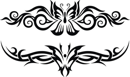 The stylized image of the butterfly in the form of a tattoo Stock Vector - 13229464