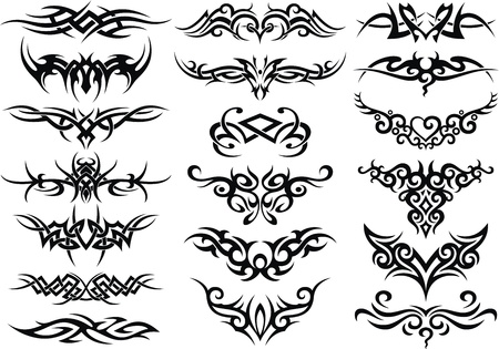 The stylized patterns in the form of a tattoo Illustration