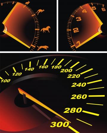 Digital speedometer with being shone arrow Stock Vector - 14455649