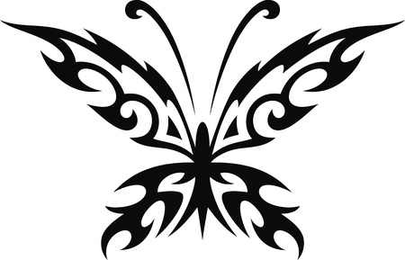 The stylized image of the butterfly in the form of a tattoo Stock Vector - 14560847