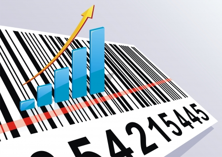bar code: The schedule of growth of the income costs on a bar code