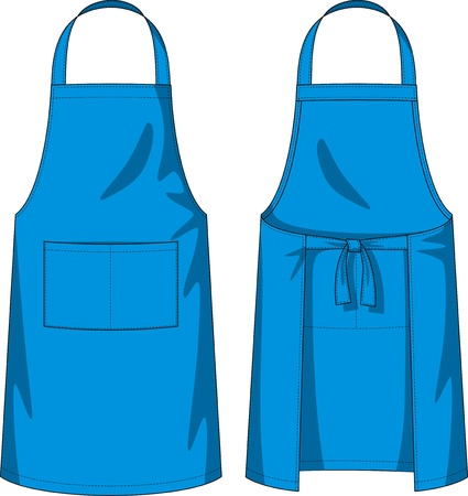unisex: Apron with a shoulder strap, a belt and pockets