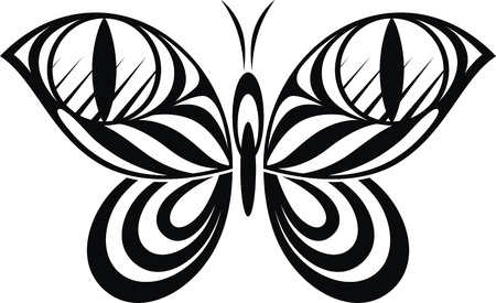 The stylized image of the butterfly in the form of a tattoo Stock Vector - 14626701
