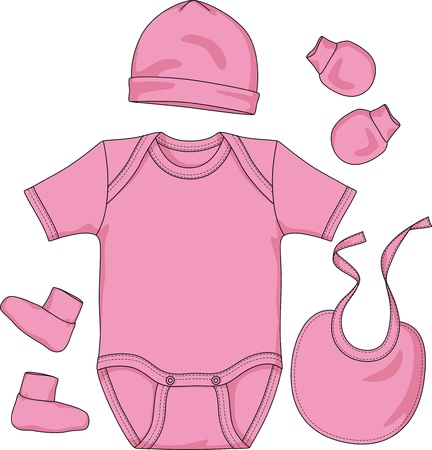 bootees: Set of clothes and headdress for the newborn child