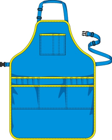 Apron with a shoulder strap, a belt and pockets Stock Vector - 14659439