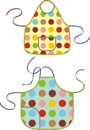 delantal: Delantal de color con una correa para el hombro y bolsillos
