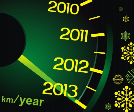 The speedometer shows approach of new 2013 Stock Vector - 16301530