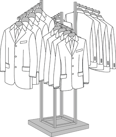 coat rack: Rack with four arms for clothes