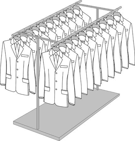 Rack con dos brazos para la ropa