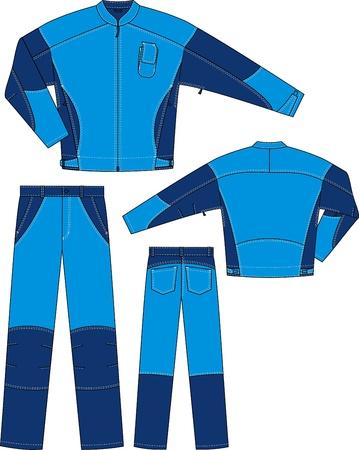 Der Anzug besteht aus einer Jacke und Hose