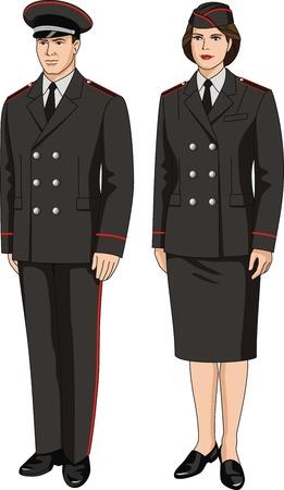 Кнопки: Костюм специальную форму одежды для мужчин и женщин