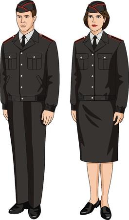 Suit special uniform for men and women Stock Vector - 19247614