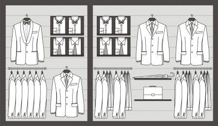 Clothing store show-window for business men Stock Vector - 19319208