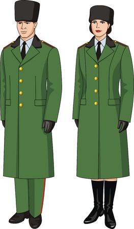 security uniform: Coat special uniform for men and women Illustration
