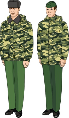 Jacket special camouflage for the security guard Illustration