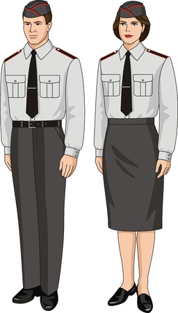 Suit special for the man and the woman Vector