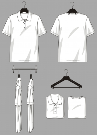 magasin vetement: Polo-cou et t-shirt dans diff�rents types de magasin de v�tements