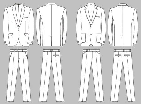 back belt: Dos opciones de trajes para el hombre