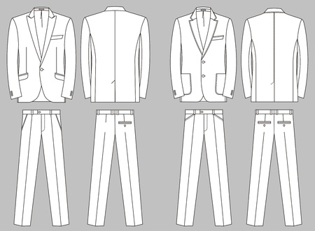 Two options of business suits for the man Stock Vector - 21331013