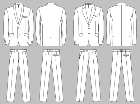 seam: Two options of business suits for the man