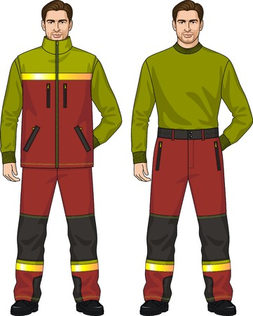 warmed: The suit for the man consists of a vest and trousers