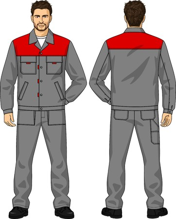 gray suit: The suit summer for the working man consists of a jacket and trousers