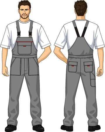 back belt: The suit summer for the working man consists of a jacket and overalls