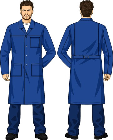 back belt: Dressing gown for the man with pockets and a fastener on buttons