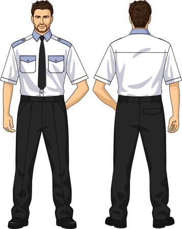 人のためのスーツ、シャツ、ズボンから成っています。  イラスト・ベクター素材
