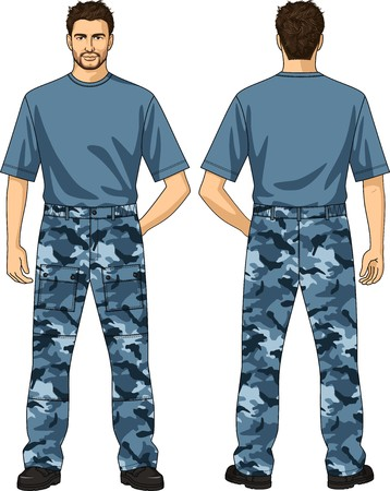 hand guard: Trousers for the man summer a camouflage with pockets