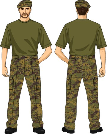 Trousers for the man summer a camouflage with pockets