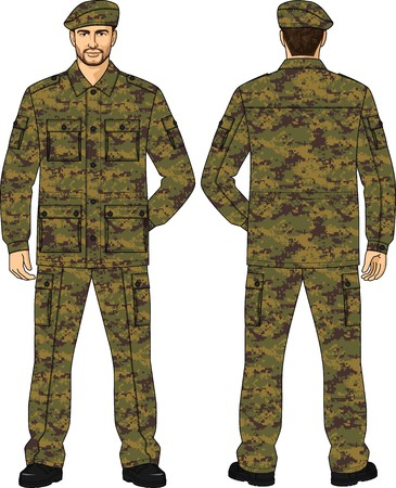 back belt: Suit summer camouflage for the security guard