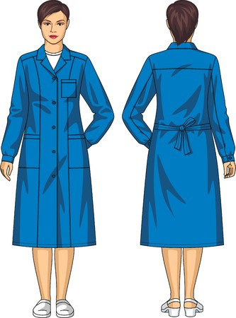 back belt: Dressing gown for the woman with pockets and a belt