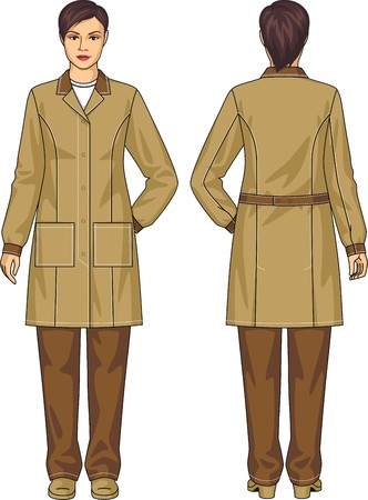 The suit for the woman consists of a jacket and trousers