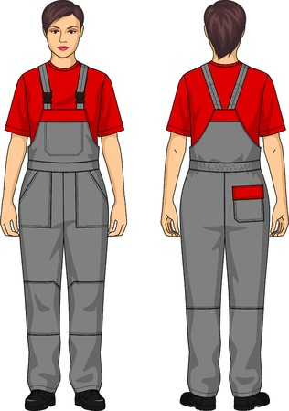 Overalls working for the woman with pockets