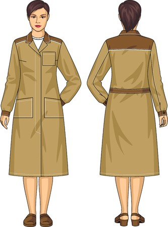 elbows: Dressing gown for the woman with pockets and a belt