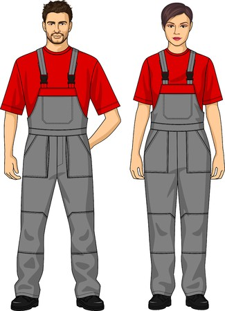 elbow band: Overalls working for the woman with pockets