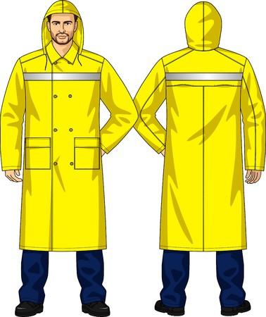 Raincoat alarm for men with pockets