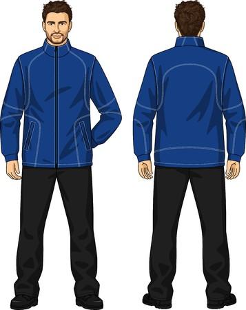 男のスーツのデミ季節はジャケットとズボンで構成されています